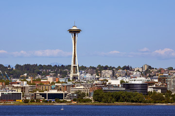 Seattle Skyline showing the Space Needle in Washington State