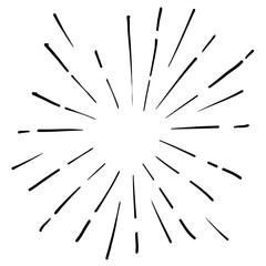doodle sparkling illustration element vector