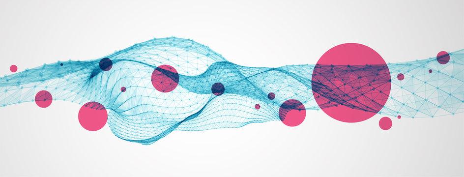 Liquid dynamic flow. Trendy fluid cover design.