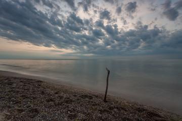 Sunset over the sea, Pobierowo, Baltyk, Poland
