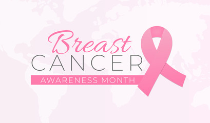 Breast Cancer Awareness Month Background Illustration
