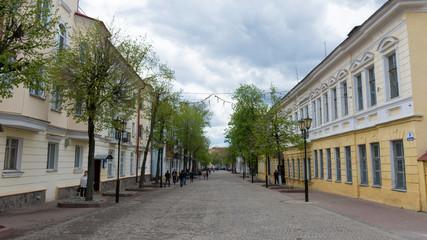 Vitebsk. The Central pedestrian street of the city - Suvorov street