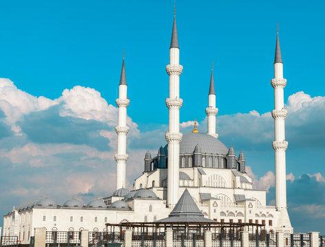 Hala Sultan Camii mosque in Nicosia, North Cyprus. Muslim religion.
