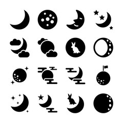 moon solid icons
