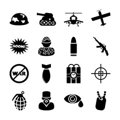 war solid icons