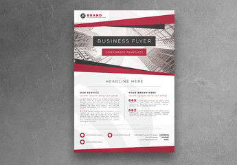 Red and White Minimalist Flyer Layout