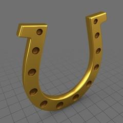 Stylized gold horseshoe
