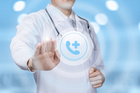 The concept of medical call center.