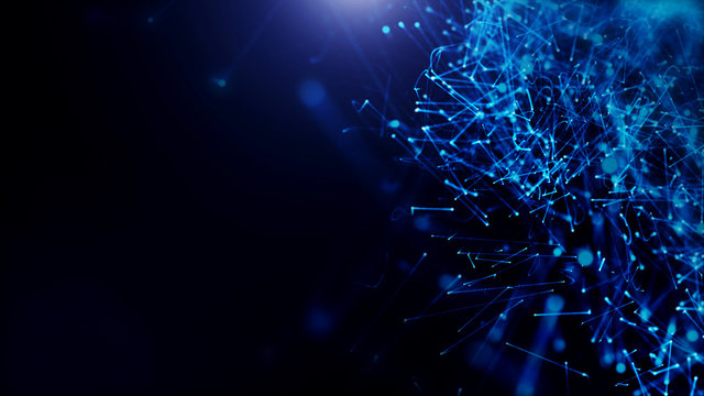 dark blue background. abstract futuristic with bokeh background.