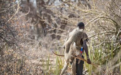 Fototapeta zabe hunter in a african bush obraz