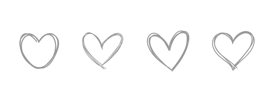 Heart doodle. Hand drawn love symbol.