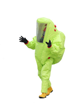 protective suit on white background