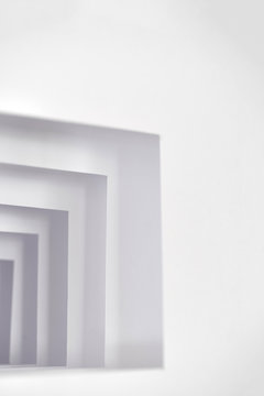 Photo of modern, abstract paper sculpture
