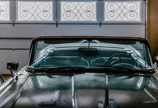 Vintage American Car in Grandpa's Garage