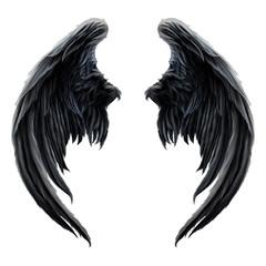 Schwarze Engelsflügel