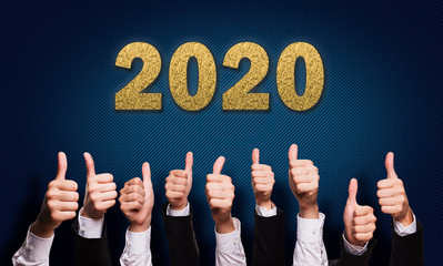 many thumbs up with message 2020