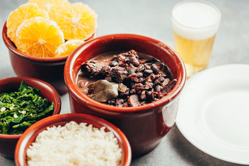 Brazilian Feijoada Food. Typical dish of brazilian cuisine