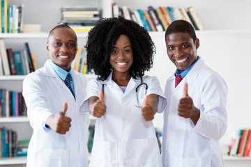 African american doctor and general practitioner and nurse as medical team