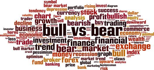 Bull vs bear word cloud