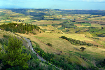 Sunny landscapes in the Molise countryside in  southern Italy. Fotomurales