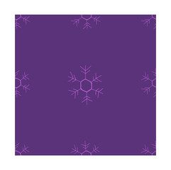 Purple vector seamless pattern featuring snowflakes. Christmas background for gift wrapping. Winter theme for printing on textiles.