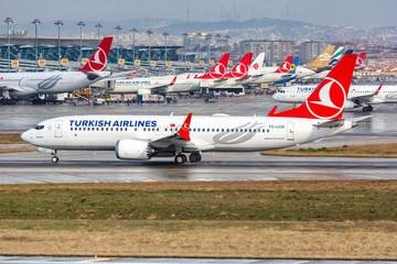 Turkish Airlines Boeing 737 MAX 8 airplane Istanbul Ataturk airport