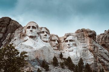 Mt Rushmore Stormy Sky