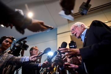 Democratic Presidential candidate U.S. Senator Bernie Sanders (D-VT) speaks to the media during the AFL-CIO Workers Presidential Summit in Philadelphia