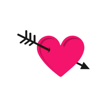 Arrow Heart Vector Icon the sign of falling love