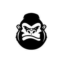 gorilla logo vector modern design