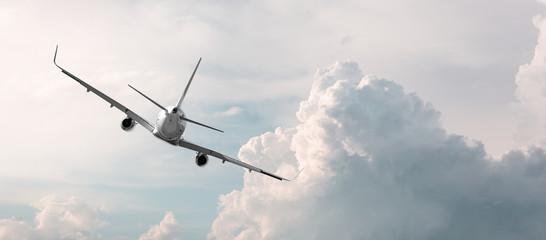 Fototapeta plane flying away