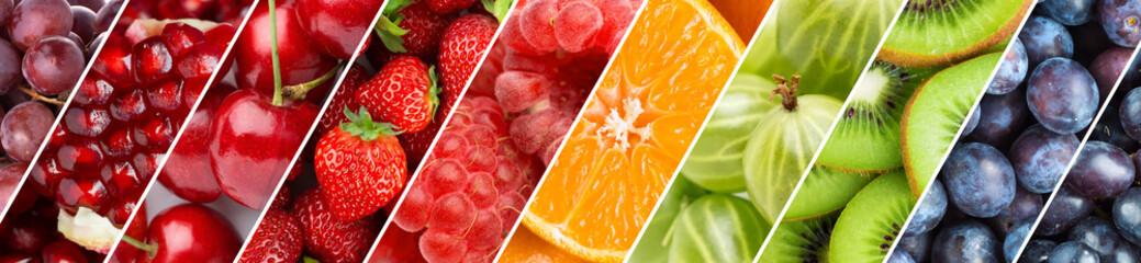 Fototapeta Fruits. Background of fresh food