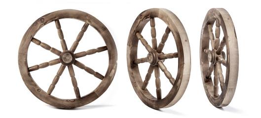 wooden wheel isolated