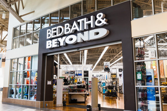 Sep 16, 2019 Milpitas / CA / USA - Bed Bath & Beyond store entrance at the Great Mall in South San Francisco Bay Area; Bed Bath & Beyond Inc. is an American chain of domestic merchandise retail stores