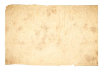 Keuken foto achterwand Retro old paper isolated