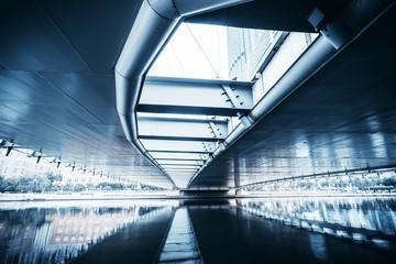 Modern bridge in Tianjin Papier Peint