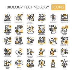 Biology technology , Thin Line and Pixel Perfect Icons