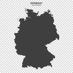 vector map of Germany isolated on transparent background
