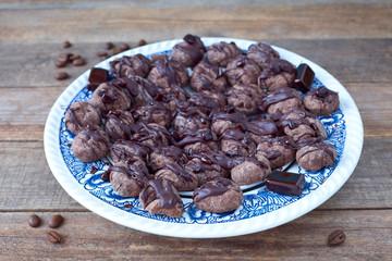 Kaffeekekse mit Schokolade