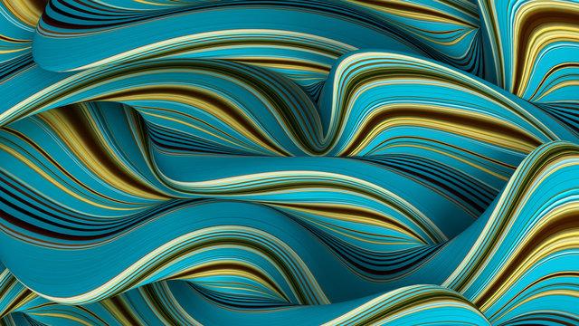 Elegant line background. 3d illustration, 3d rendering.
