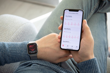Apple Watch Series 4 and iPhone X with ECG app