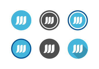 Collection of letter W Symbol, Initial W logo icon set - Vector