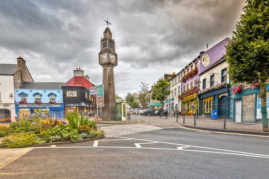 The Clock Tower in Westport, County Mayo, Ireland