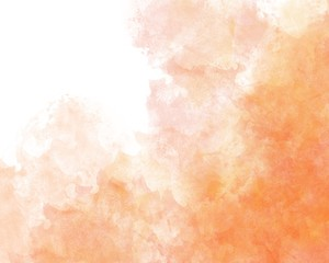 Orange autumn abstract watercolor background
