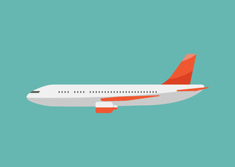 Airplane flat style illustration