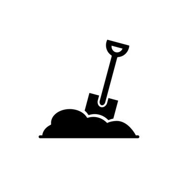 shovel icon trendy