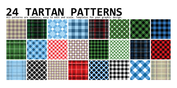 Lumberjack Tartan. 24 patterns