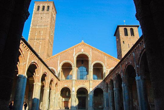 St Ambrogio church of Milan
