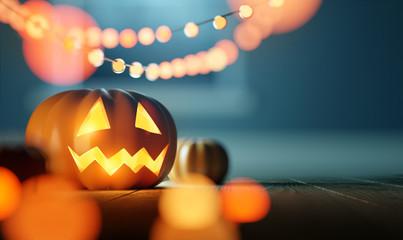 Halloween Pumpkin Lantern Celebration Party Background