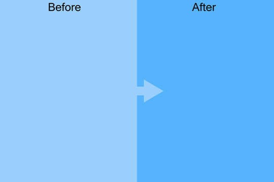 Template before and after background. Comparison card with empty space. Flat style. Vector illustration